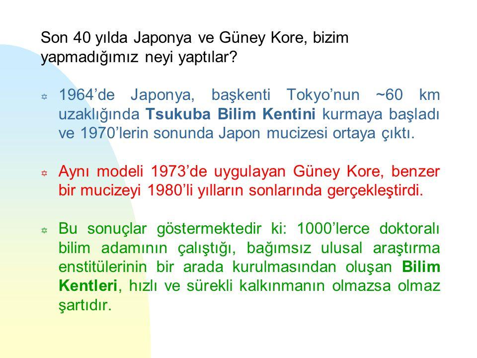 Son 40 yılda Japonya ve Güney Kore, bizim yapmadığımız neyi yaptılar.