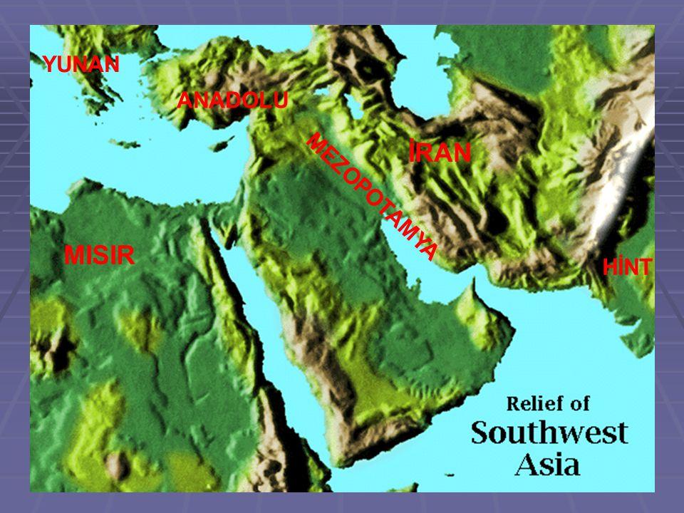 MISIR MEZOPOTAMYA İRAN ANADOLU YUNAN HİNT