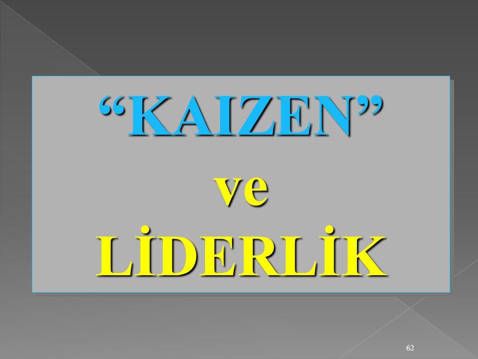 "62 ""KAIZEN"" ve LİDERLİK"
