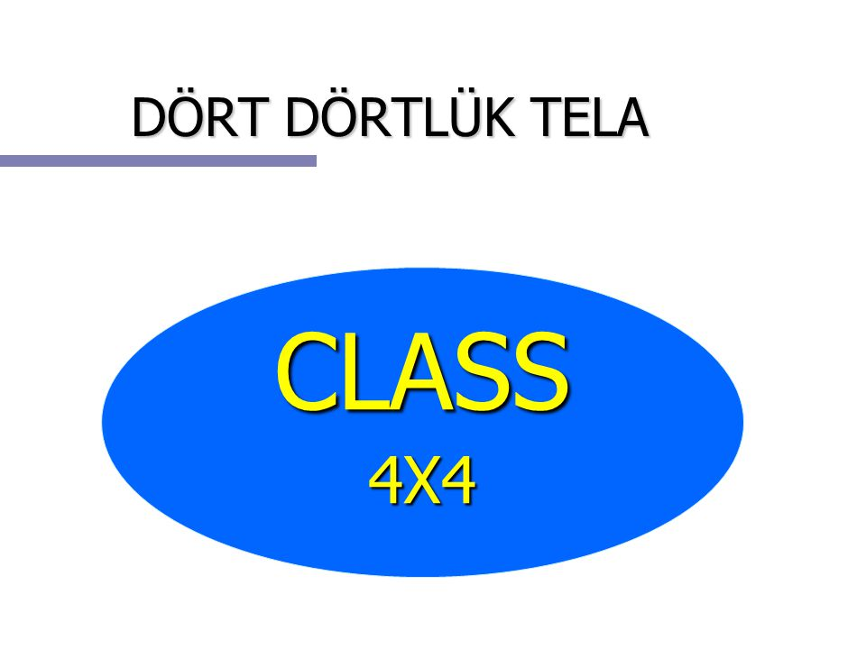 DÖRT DÖRTLÜK TELA CLASS4X4