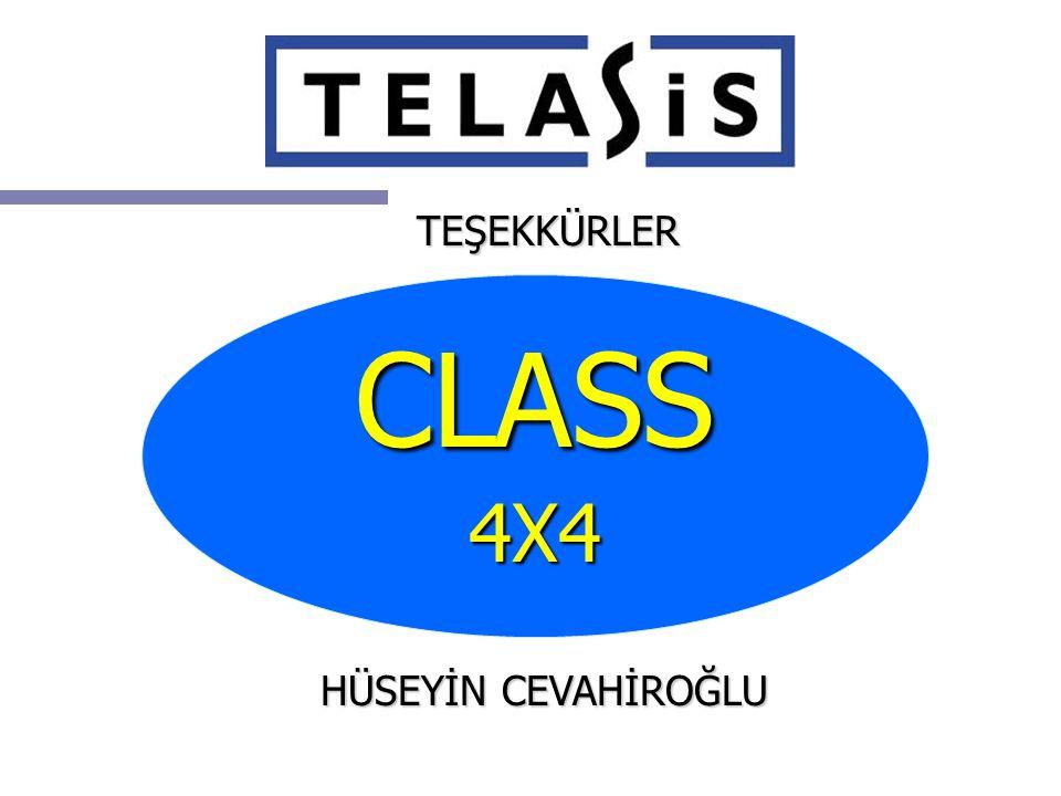 TEŞEKKÜRLER CLASS4X4 HÜSEYİN CEVAHİROĞLU