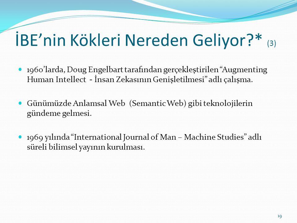 """İBE'nin Kökleri Nereden Geliyor?* (3) 1960'larda, Doug Engelbart tarafından gerçekleştirilen """"Augmenting Human Intellect - İnsan Zekasının Genişletilm"""
