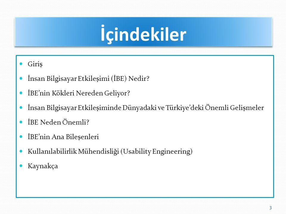 Türkiye deki Gelişmeler (15) Akademik çalışmalarda da İBE kullanılmaktadır… Yücel, C.H.