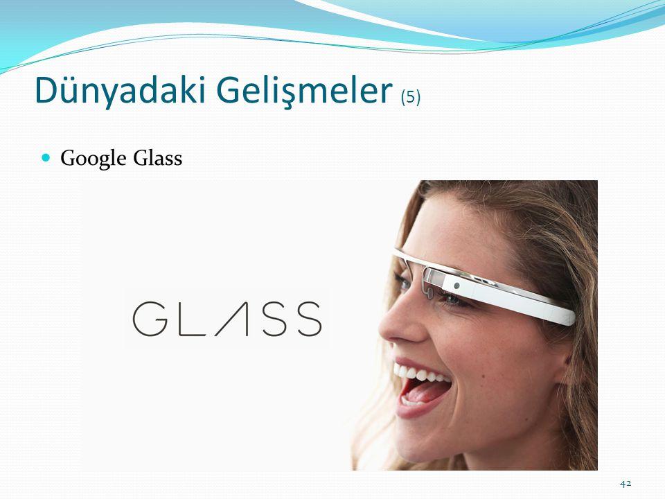 Dünyadaki Gelişmeler (5) Google Glass 42