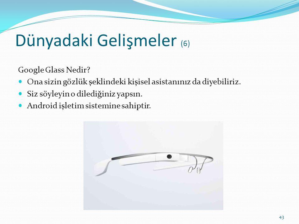 Dünyadaki Gelişmeler (6) Google Glass Nedir? Ona sizin gözlük şeklindeki kişisel asistanınız da diyebiliriz. Siz söyleyin o dilediğiniz yapsın. Androi