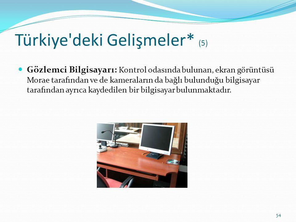 Türkiye'deki Gelişmeler* (5) Gözlemci Bilgisayarı: Kontrol odasında bulunan, ekran görüntüsü Morae tarafından ve de kameraların da bağlı bulunduğu bil
