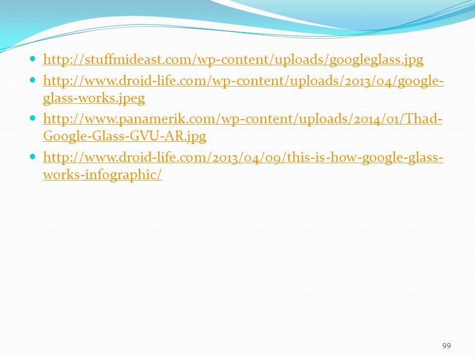 http://stuffmideast.com/wp-content/uploads/googleglass.jpg http://www.droid-life.com/wp-content/uploads/2013/04/google- glass-works.jpeg http://www.dr