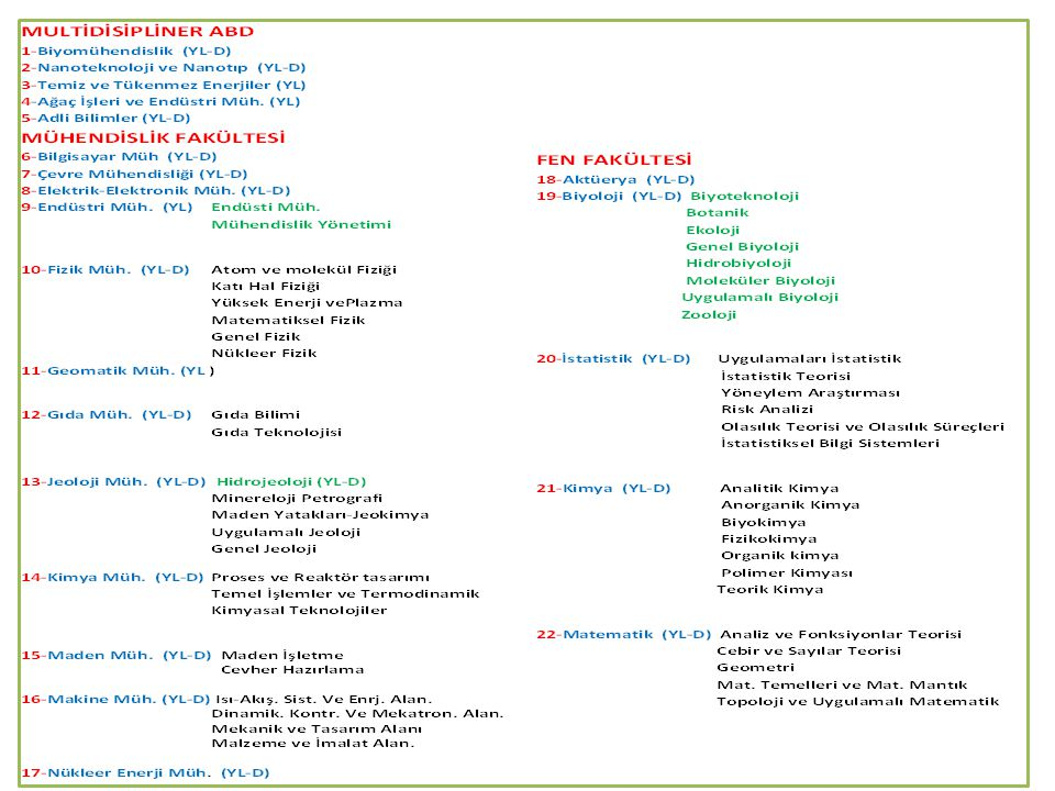 Biyomühendislik Anabilim Dalı Biyoproses Mühendisliği: Biyoproses Tasarımı, Biyokataliz, Biyoseparasyon.