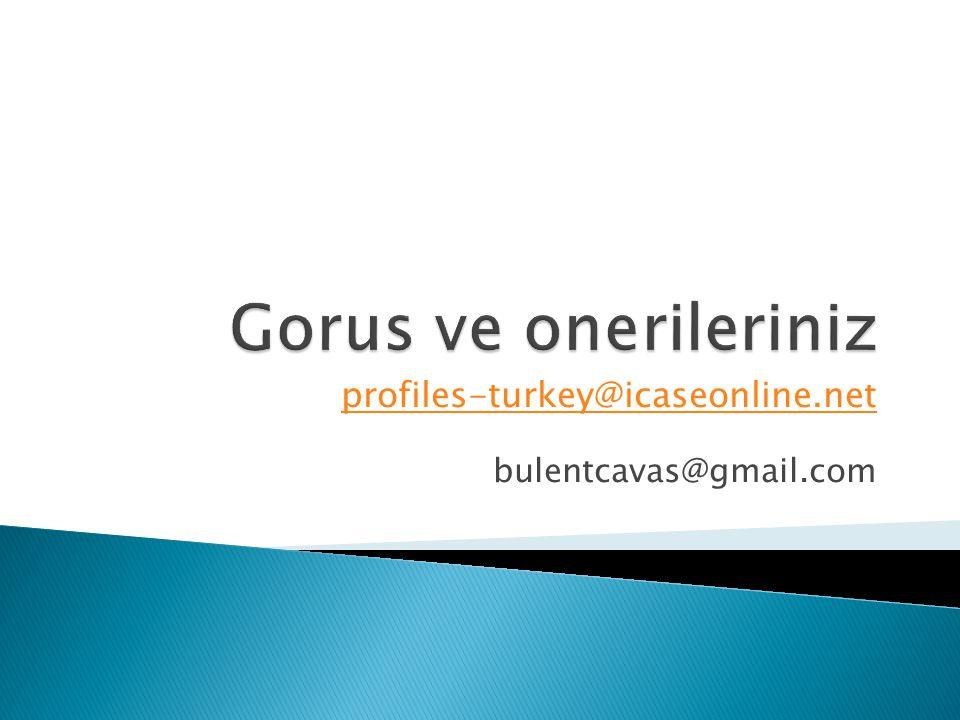 profiles-turkey@icaseonline.net bulentcavas@gmail.com