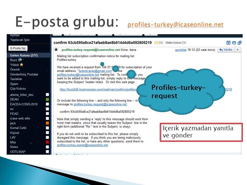 Profiles-turkey- request İçerik yazmadan yanıtla ve gönder