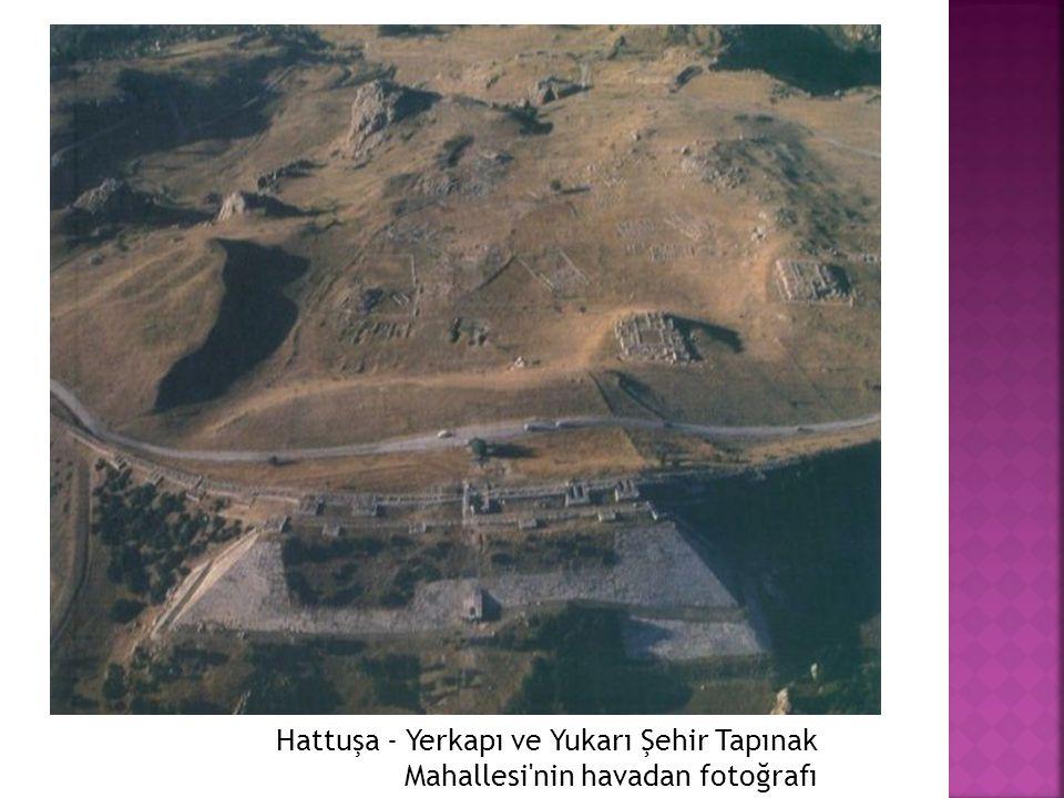 Hattuşa - Yerkapı ve Yukarı Şehir Tapınak Mahallesi'nin havadan fotoğrafı