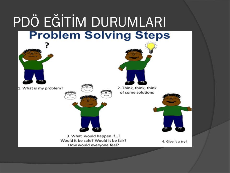  PDÖ' ye uygun düzenlenmiş eğitm durumlerında öğrenciler senaryo- problem durumu ile karşılaştıklarında öğrenme başlar.