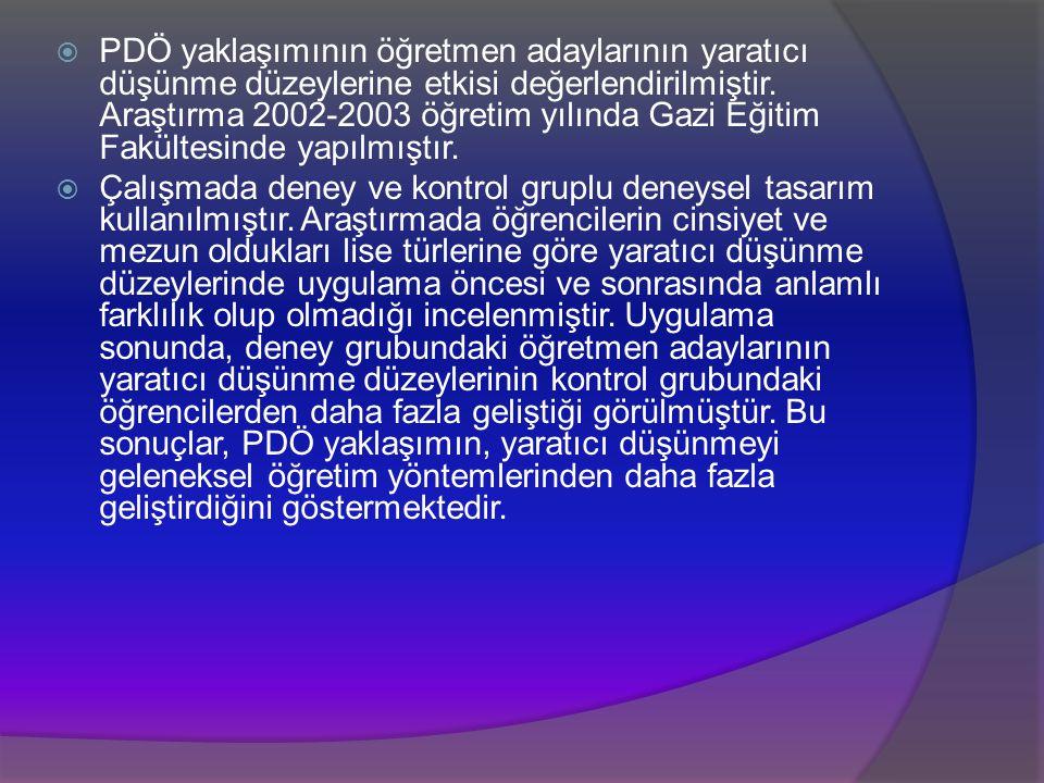 Kaynaklar  Demirel, Ö. Eğitimde Yeni Yönelimler , Pegem Akademi, 2011.