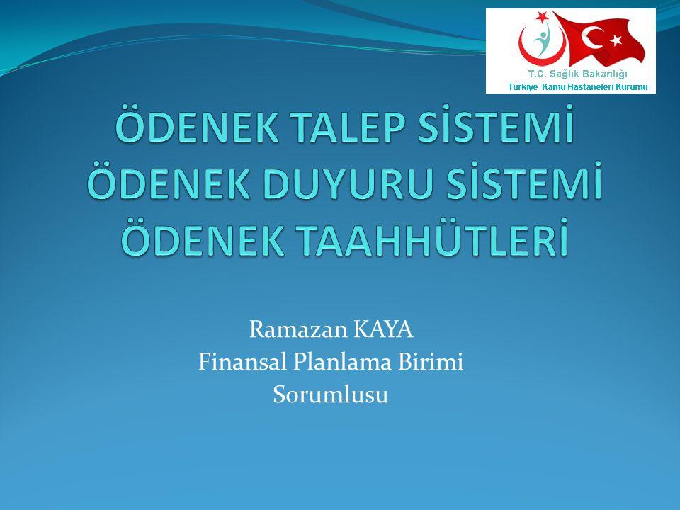 Kurum AdıMiktarAçıklama Bütçe Kodu Bütçe AdıTarih İstanbul Kartal Koşuyolu Yüksek İhtisas Eğitim ve Araştırma Hastanesi 30.068 Tutuklu Hükümlü ve adli vaka hastaların tedavi giderleri için (03.9.8.3 ve 03.9.9.3 ekonomik kodlar için) 15.75.00.62- 07.3.1.10-1-03.9 10-1-03.9 Tutuklu ve Hükümlülere Yönelik Hizmetler 24.10.2014 00:00 İstanbul Meslek Hastalıkları Hastanesi 945 İşçi ve Bekçi kadrosunda çalışan personelin ayni giyim yardımları 15.75.00.62- 07.3.1.00-1-03.2 03.2 TÜKETİME YÖNELİK MAL VE MALZEME ALIMLARI 23.10.2014 00:00 İstanbul Anadolu Güney Kamu Hastane Birliği Merkezi 1.179.000 06.1 Mamül Mal Alımları için yapılan taahhütlere ilişkin yapılan alımların ödemelerinde kullanılması için Global Bütçeden ilave ödenek D.S.