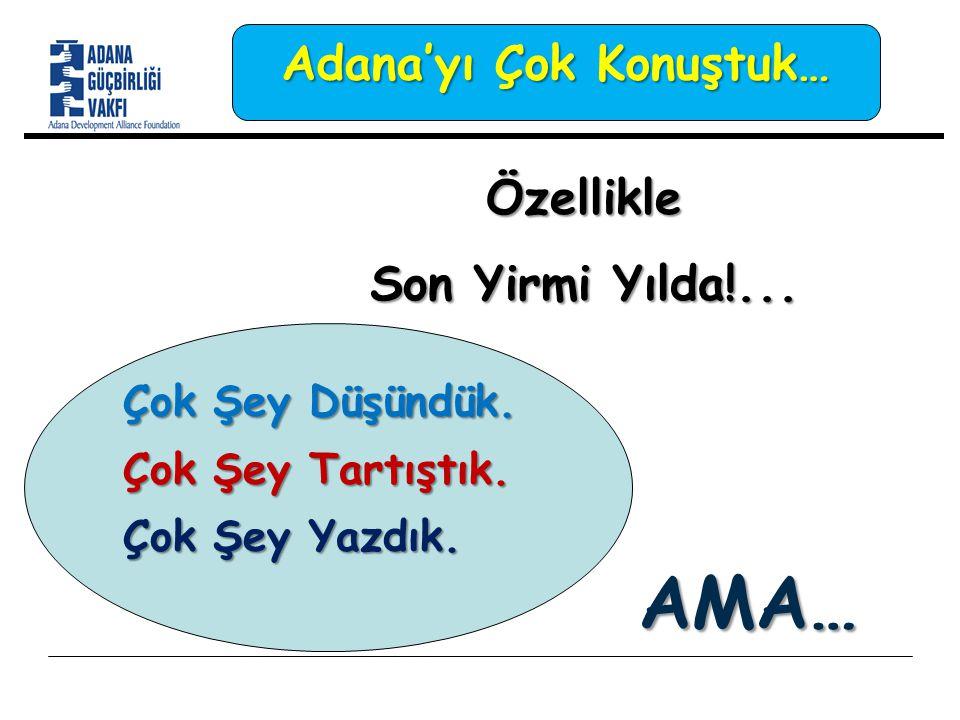 Özellikle Son Yirmi Yılda!... Adana'yı Çok Konuştuk… AMA… Çok Şey Düşündük.