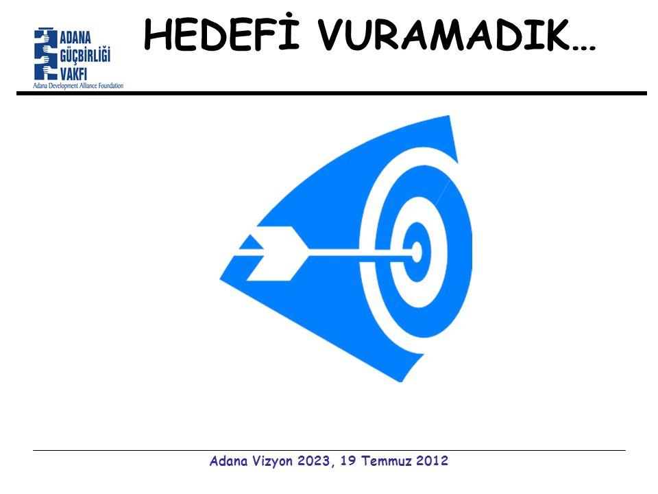 HEDEFİ VURAMADIK… Adana Vizyon 2023, 19 Temmuz 2012