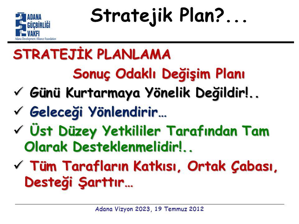 Stratejik Plan ...