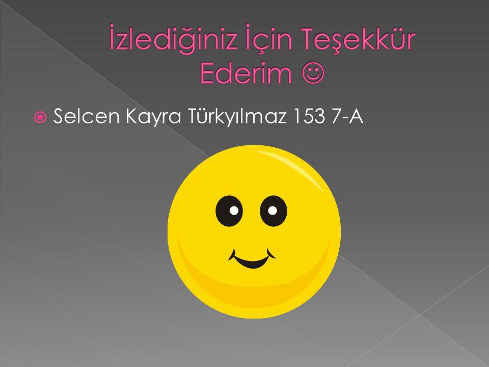  Selcen Kayra Türkyılmaz 153 7-A