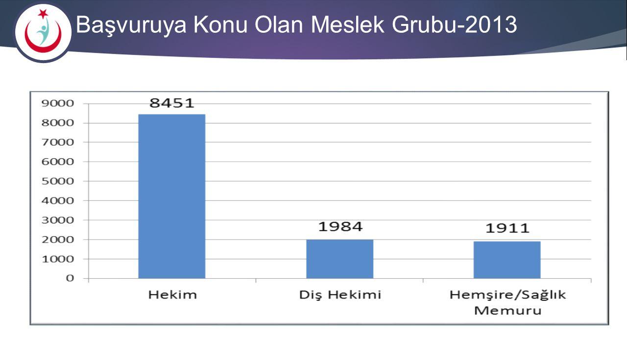 Başvuruya Konu Olan Meslek Grubu-2013
