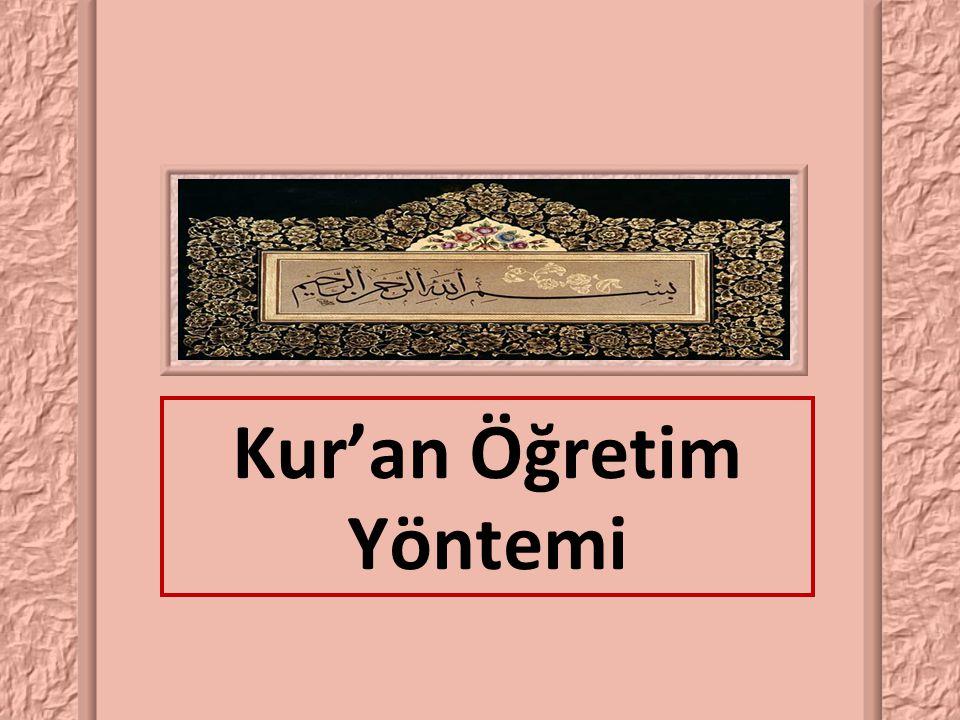Kur'an Öğretim Yöntemi