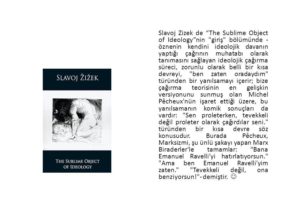 """Slavoj Zizek de """"The Sublime Object of Ideology""""nin"""