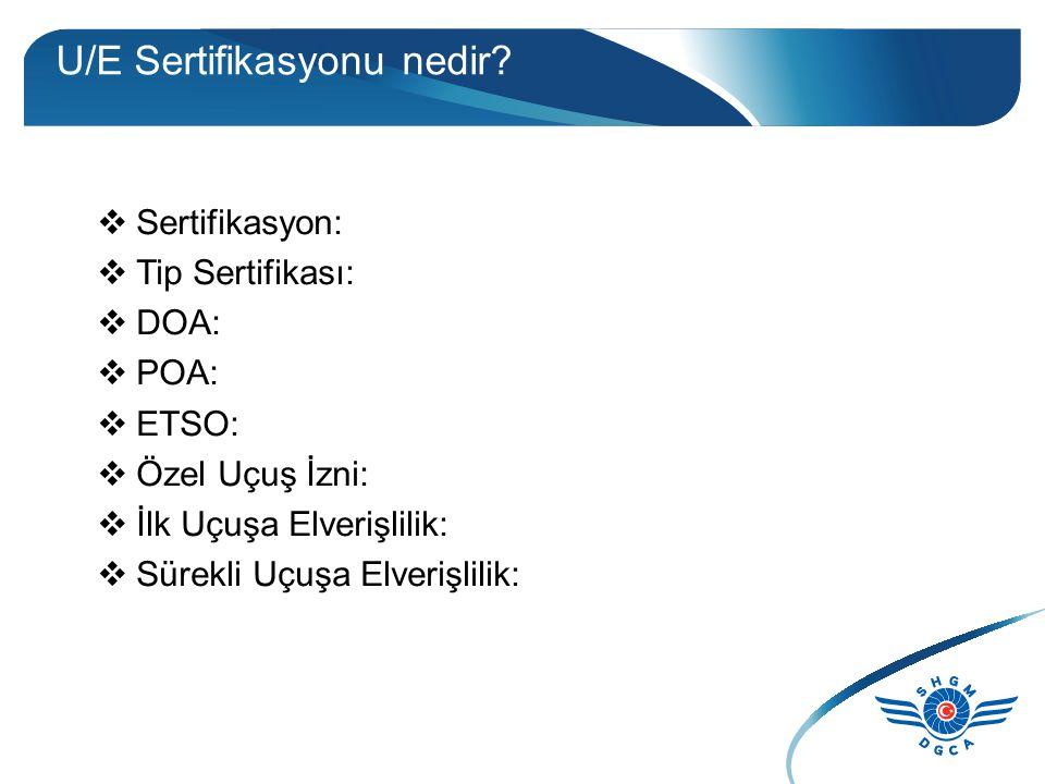 U/E Sertifikasyonu nedir.