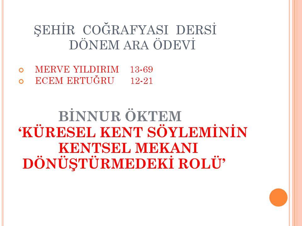 BÜYÜKDERE-MASLAK AKSININ SANAYİ AKSI HALİNE GELİŞİ Büyükdere Bulvarı kentin Avrupa yakasında,Şişli Camii ile başlayan Esentepe,Zincirlikuyu,Levent,Sanayi,Maslak'tan geçip Hacıosman yamaçlarında biten,İstanbul'un hayati öneme sahip su havzalarının ve ormanların bulunduğu kuzeye doğru uzanan en önemli akslarından biridir.
