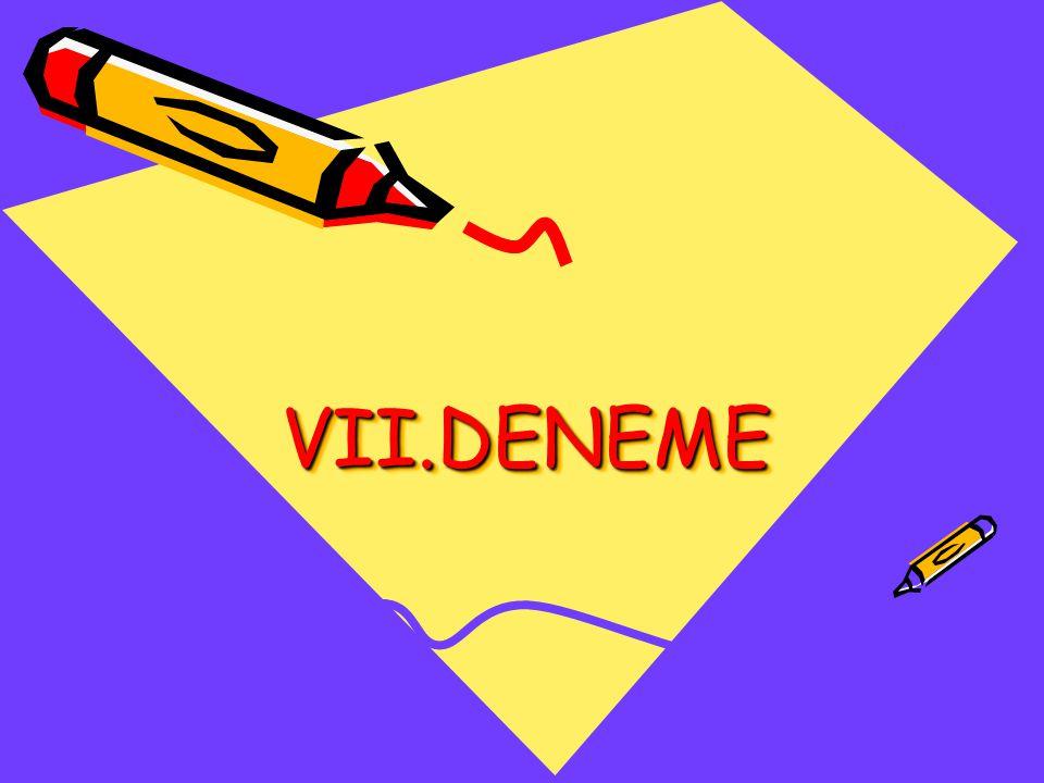 VII.DENEME VII.DENEME