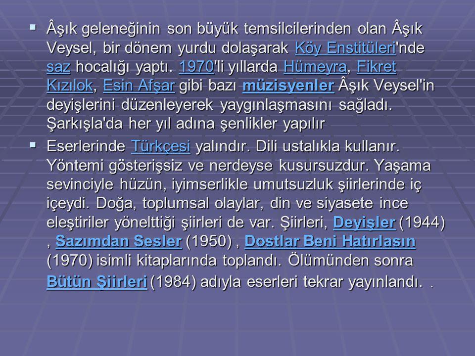 Ağlayalım Atatürk e Bütün Dünya kan ağladı, Süleyman olmuştu mülke, Geldi ecel, can ağladı, Atatürk ün eserleri, Söyleyecek bundan geri, Bütün dünyanın her yeri Ah çekti, vatan ağladı.