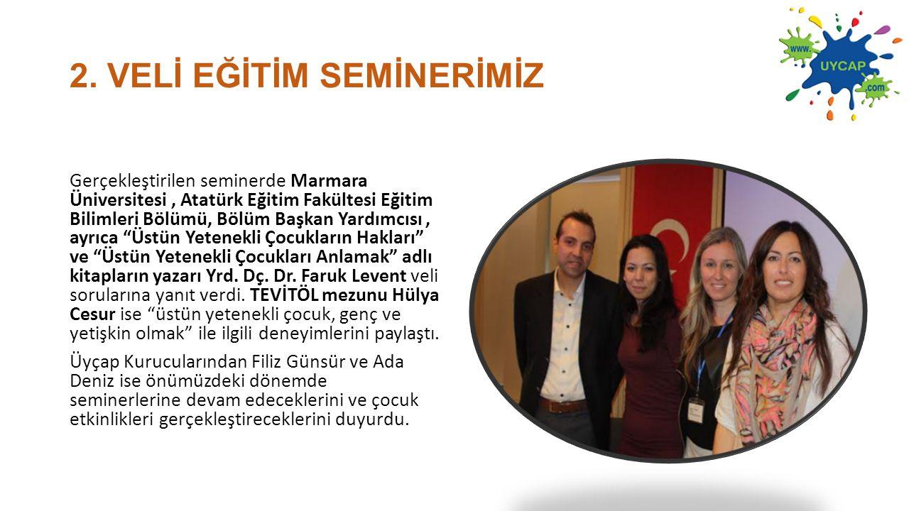 2. VELİ EĞİTİM SEMİNERİMİZ Gerçekleştirilen seminerde Marmara Üniversitesi, Atatürk Eğitim Fakültesi Eğitim Bilimleri Bölümü, Bölüm Başkan Yardımcısı,