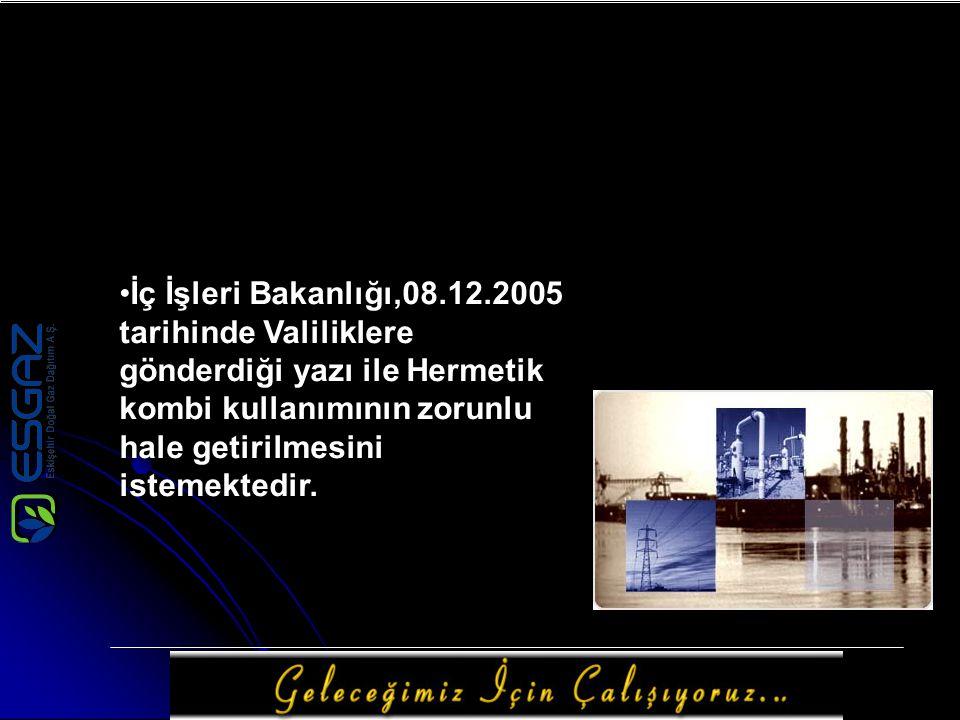 İç İşleri Bakanlığı,08.12.2005 tarihinde Valiliklere gönderdiği yazı ile Hermetik kombi kullanımının zorunlu hale getirilmesini istemektedir.