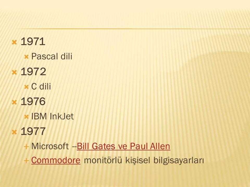  1978  WordStar sözcük işlemcisi  Intel 8086 işlemciyi geliştirdi.