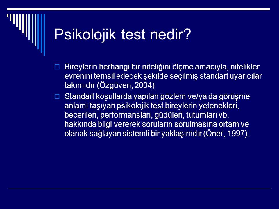 7- Bireyi tanımada testlerle kolayca elde edilemeyen bilgileri ihmal etmek 8- Test puanlarını uygun olan normlara göre yorumlamamak 9- Standart testlere özgü,standart kurallara uymamak