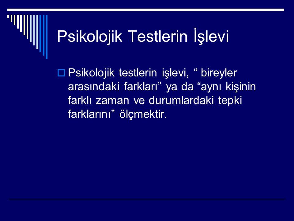 Psikolojik Testlerin Kullanılmasına İlişkin Etik Kurallar 1- Bilgilendirme ile ilgili etik kurallar 2- Testin seçimi ile ilgili etik kurallar 3- Uygulama ile ilgili etik kurallar 4- Yeterlik ile ilgili etik kurallar 5- Yanlış veya hatalı test kullanımı ile ilgili etik kurallar