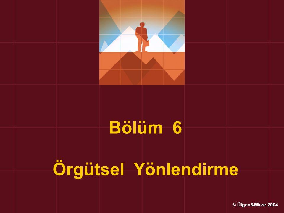 Bölüm 6 Örgütsel Yönlendirme © Ülgen&Mirze 2004