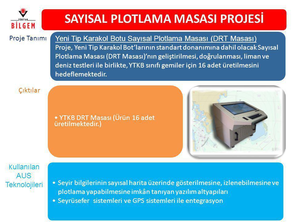 SAYISAL PLOTLAMA MASASI PROJESİ YTKB DRT Masası (Ürün 16 adet üretilmektedir.) Yeni Tip Karakol Botu Sayısal Plotlama Masası (DRT Masası) Proje, Yeni