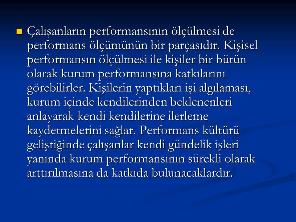 Çalışanların performansının ölçülmesi de performans ölçümünün bir parçasıdır.