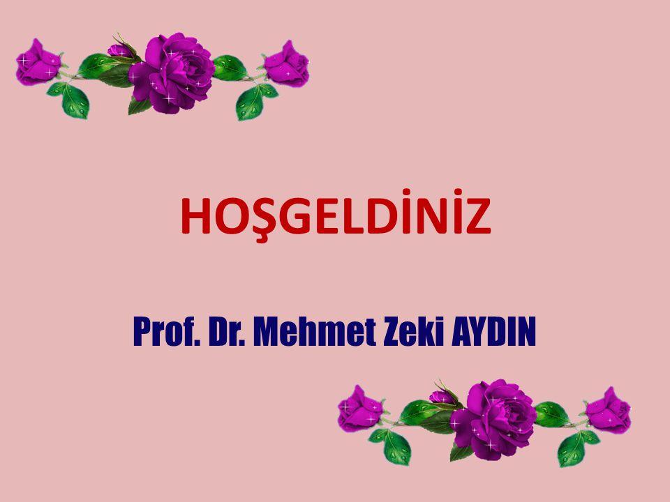 HOŞGELDİNİZ Prof. Dr. Mehmet Zeki AYDIN