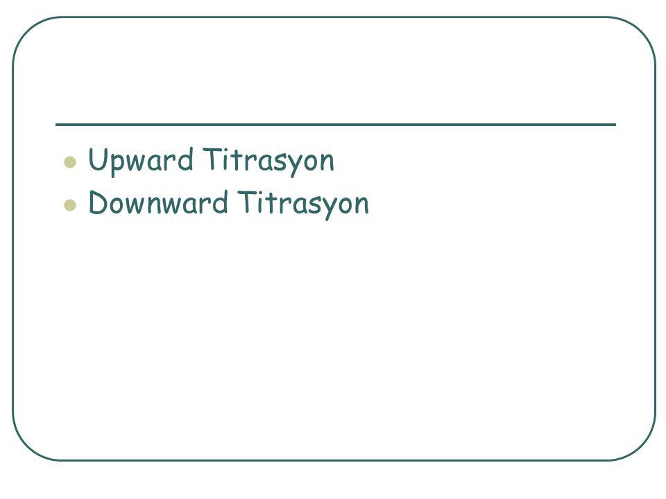 Upward Titrasyon Downward Titrasyon