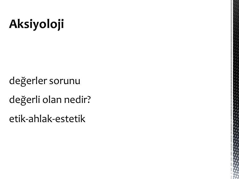 Aksiyoloji
