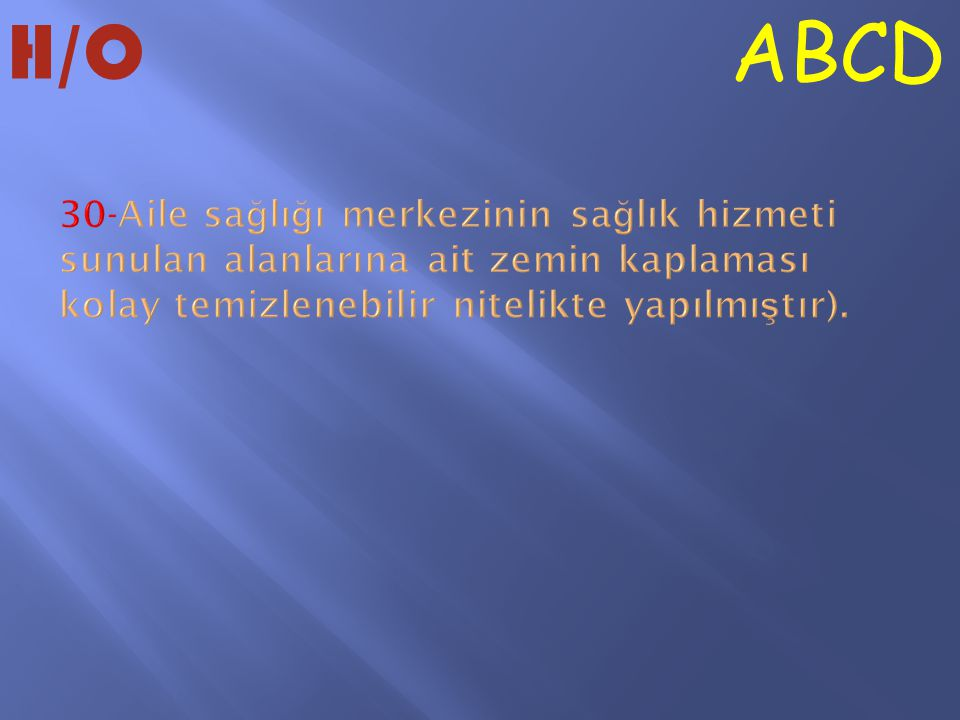 ABCD H/O