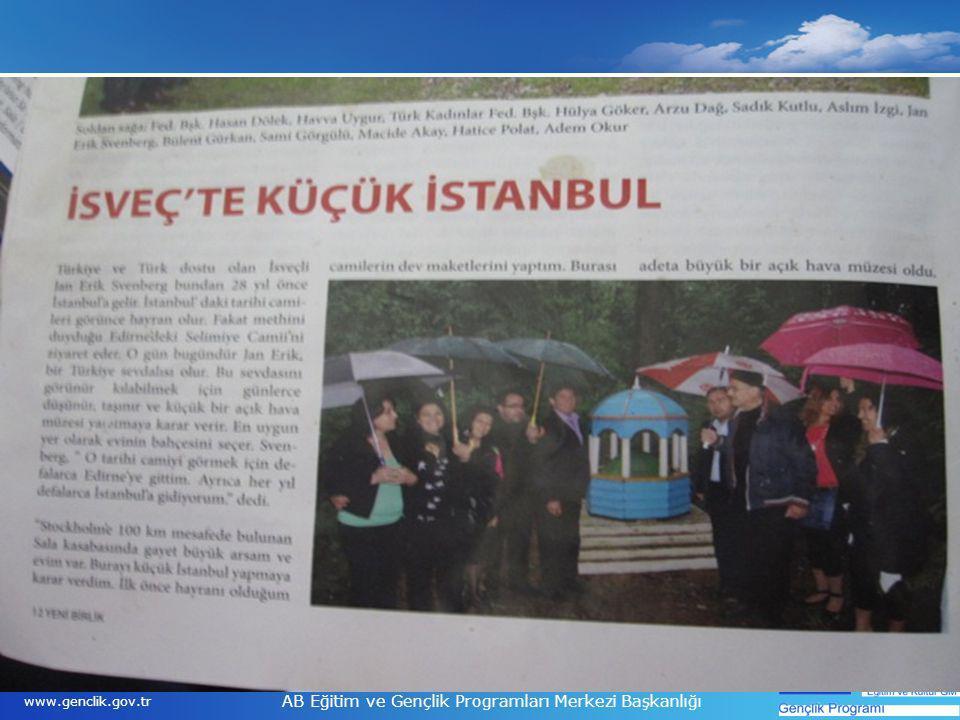 19 www.genclik.gov.tr AB Eğitim ve Gençlik Programları Merkezi Başkanlığı