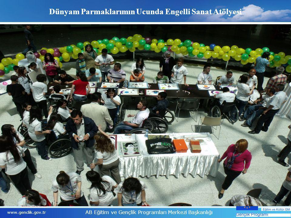 9 www.genclik.gov.tr AB Eğitim ve Gençlik Programları Merkezi Başkanlığı Dünyam Parmaklarımın Ucunda Engelli Sanat Atölyesi