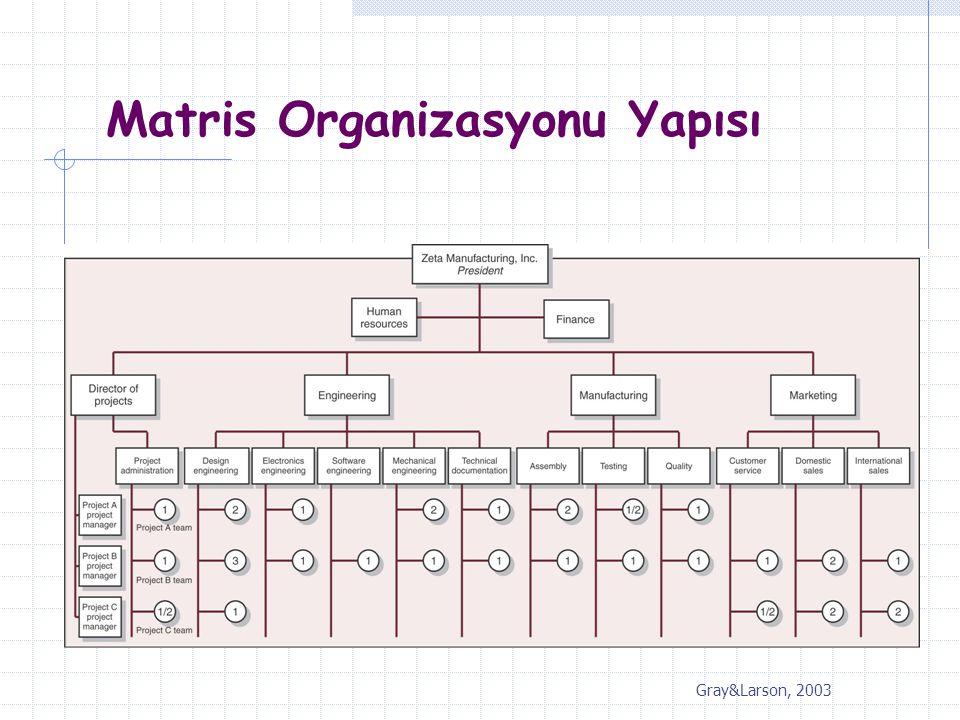 Matris Organizasyonu Yapısı Gray&Larson, 2003