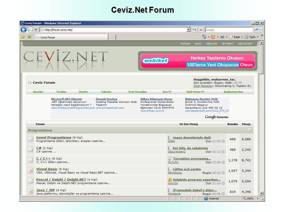 Ceviz.Net Forum