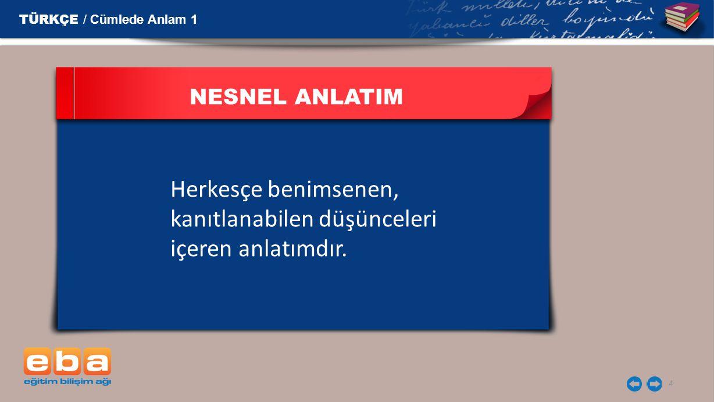 5 NESNEL ANLATIM Ankara Türkiye'nin başkentidir.Ülkemizin Asya ve Avrupa'da toprakları vardır.