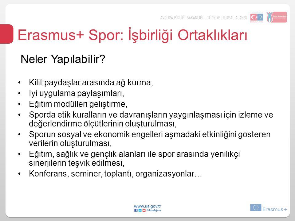 Erasmus+ Spor: İşbirliği Ortaklıkları Neler Yapılabilir.