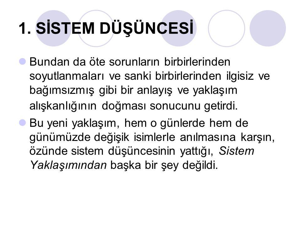 6.SİSTEM YAKLAŞIMI UYGULAMASI- SİSTEM ANALİZİ 2.