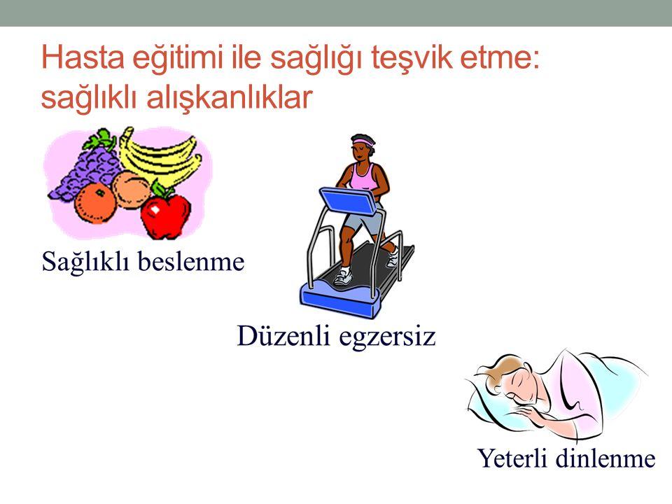 Hasta eğitimi ile sağlığı teşvik etme: sağlıklı alışkanlıklar