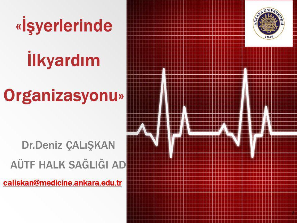«İşyerlerinde İlkyardım Organizasyonu» Dr.Deniz ÇALıŞKAN AÜTF HALK SAĞLIĞI AD caliskan@medicine.ankara.edu.tr 3